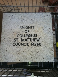 Knights purchase brick to help fund All Saints Catholic School Science Park